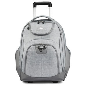 High Sierra Powerglide Wheeled Backpack in the color Silver Heather.