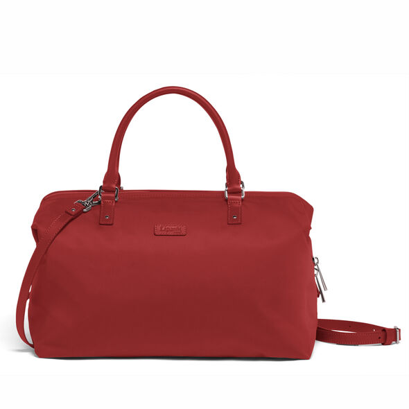 Lipault Lady Plume FL Bowling Bag M in the color Cherry Red.