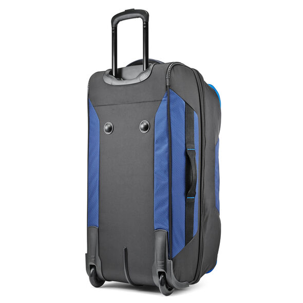 """High Sierra Dells Canyon 28"""" Drop-Bottom Wheeled Duffle in the color True Navy/Black/Sports Blue."""