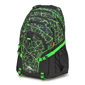 High Sierra Loop Backpack in the color Digital Web/Black/Lime.