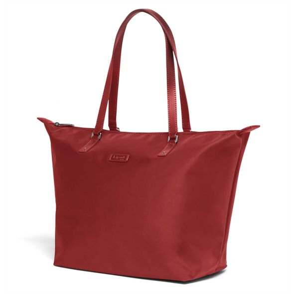Lipault Lady Plume FL Tote Bag M in the color Cherry Red.