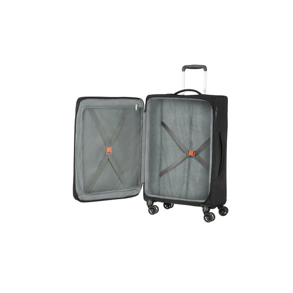 American Tourister Fly Light Spinner Medium in the color Black.