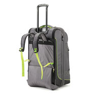 "High Sierra Break-Out 26"" Wheeled Duffle Upright in the color Mercury/Black/Zest."