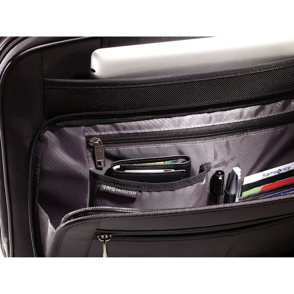 Samsonite Classic 2 3 Gusset TSA Briefcase in the color Black.