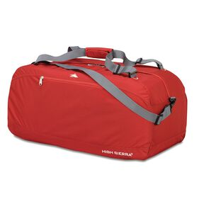 "High Sierra 30"" Pack-N-Go Duffel in the color Carmine Red."