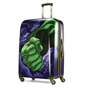 "American Tourister Marvel All Ages 28"" Spinner in the color Hulk."