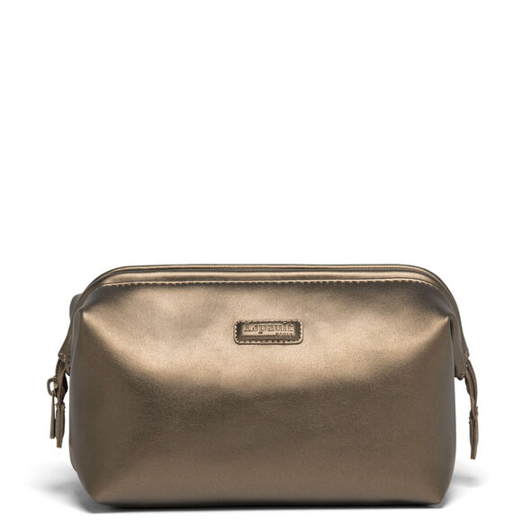 Lipault Miss Plume Toiletry Kit M in the color Dark Bronze.