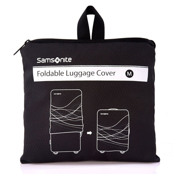 Medium Foldable Luggage Cover in the color Black.