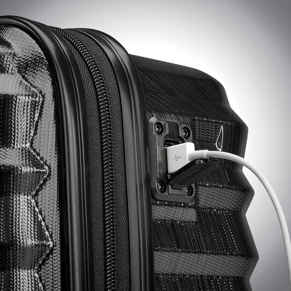 Samsonite Ziplite 4 Spinner Underseater in the color Brushed Anthracite.