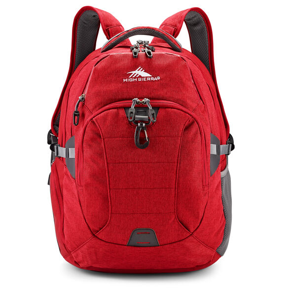 High Sierra Jarvis Backpack in the color Chili Pepper/Slate.