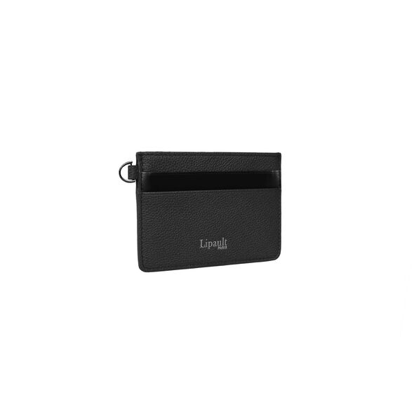 Lipault Plume Elegance Card Holder in the color Black Leather.