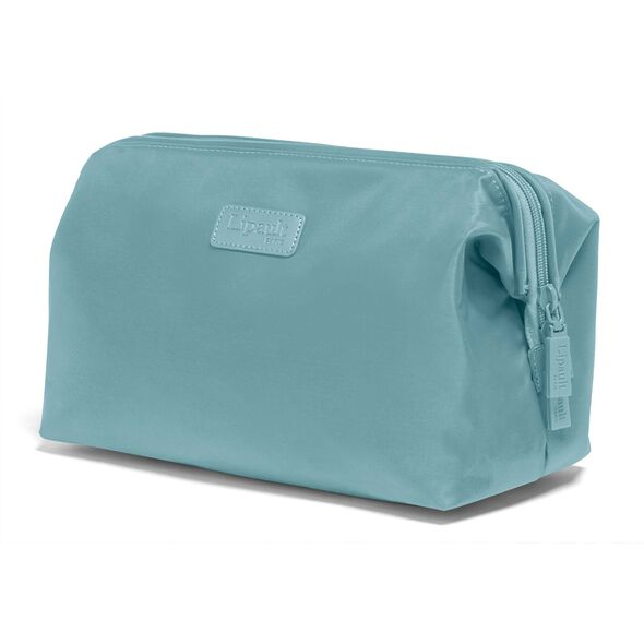 """Lipault Travel Accessories 12"""" Toiletry Kit in the color Coastal Blue."""