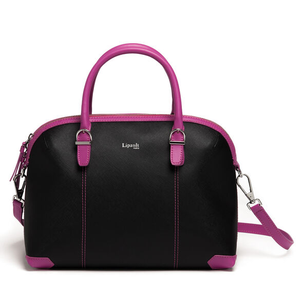 Lipault Variation Boston Bag in the color Black/Sweet Fuchsia.