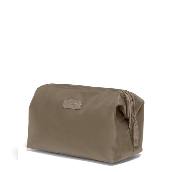"""Lipault Plume Accessories 12"""" Toiletry Kit in the color Dark Taupe."""