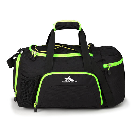 High Sierra Cross Sport Duffels Ringleader Duffel in the color Black/Zest.