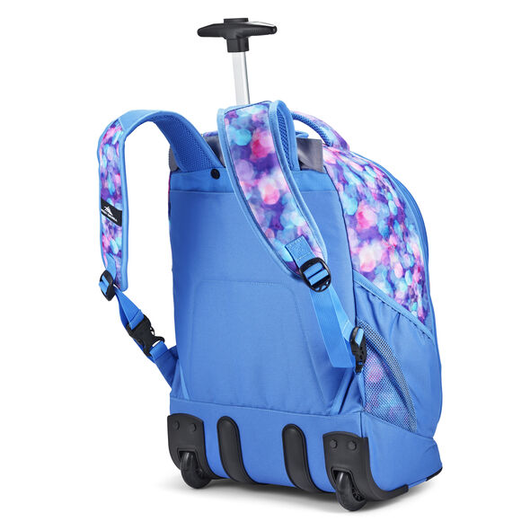 High Sierra Chaser Wheeled Backpack in the color Shine Blue/Lapis.