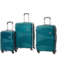 Canadian Tourister Coastal Spinner 3 Piece Set (CO/Med/Lrg) in the color Petrol Blue.