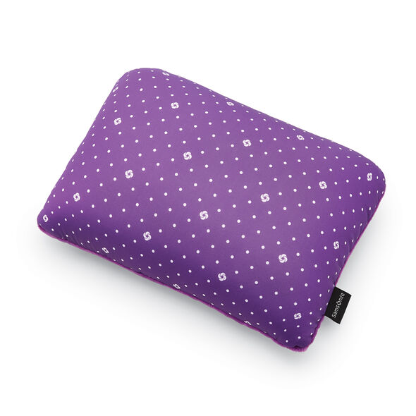 Samsonite CAN Accessories Magic 2 in 1 Pillow in the color Purple Dots.
