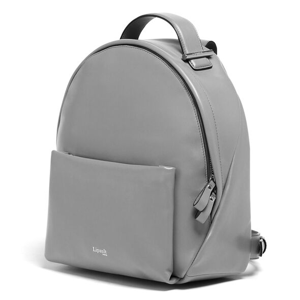 Lipault By The Seine Nano Backpack in the color Magnetic Grey.