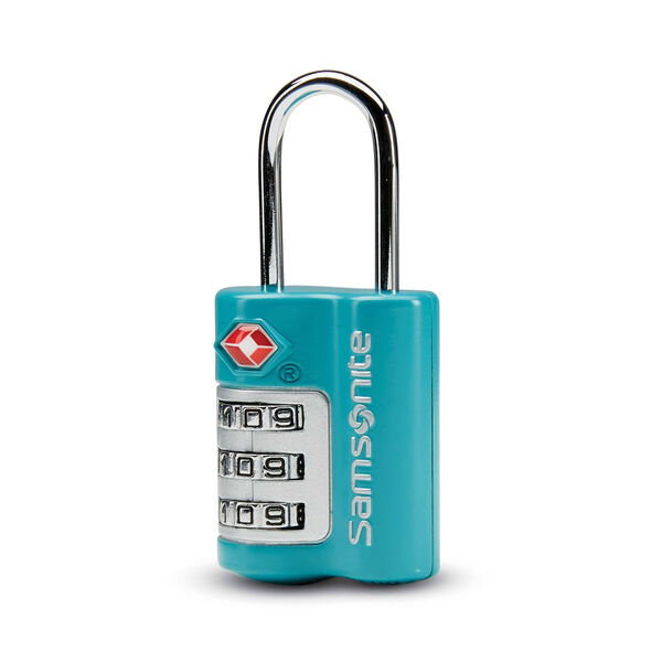 Samsonite 3 Dial Travel Sentry Combination Lock in the color Emerald Teal.