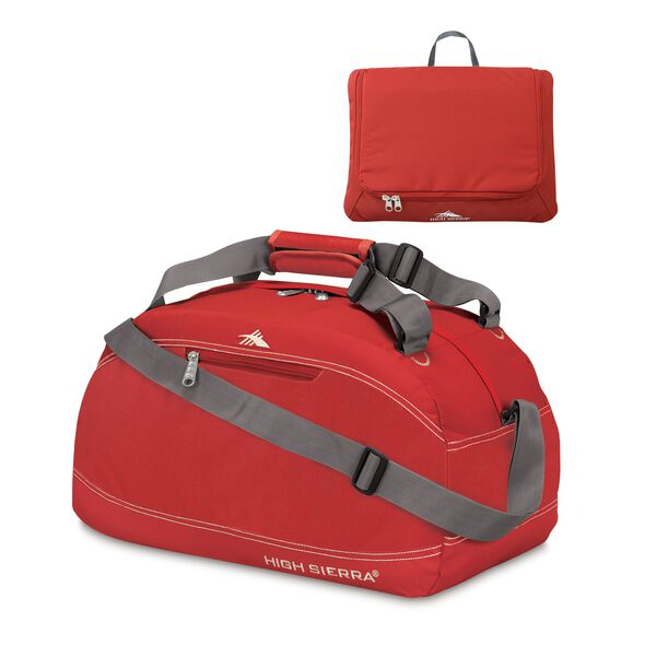 "High Sierra 20"" Pack-N-Go Duffle in the color Carmine Red."