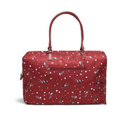 Lipault Izak Zenou Weekend Bag M in the color Pose/Garnet Red.