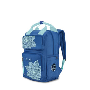 Life Is Good by High Sierra Mindie Backpack in the color Vintage Blue/Bermuda Blue Mandala.