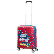 American Tourister Wavebreaker-Disney Spinner Carry-On in the color Minnie Loves Mickey.