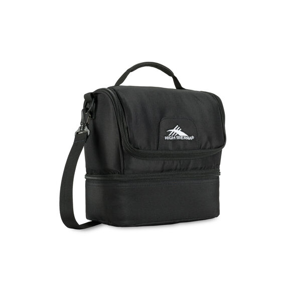 High Sierra Lunch Packs Double-Decker in the color Black.