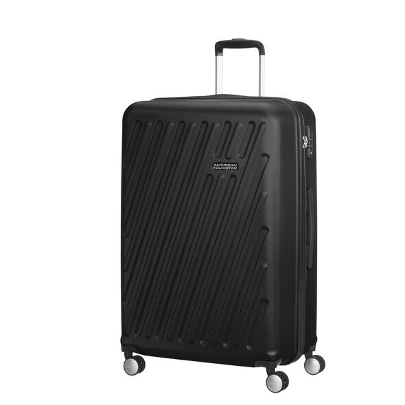 American Tourister Hypercube Spinner Large in the color Black Slate.