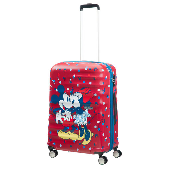 American Tourister Wavebreaker-Disney Spinner Medium in the color Minnie Loves Mickey.
