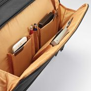 Samsonite Kombi Flapover Briefcase in the color Black/Brown.