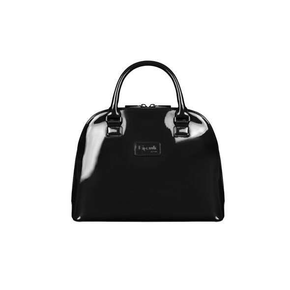 Lipault Plume Vinyle Handle Bag M in the color Black.