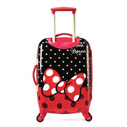"""American Tourister Disney Minnie Mouse 21"""" Hardside Spinner in the color Minnie Mouse Red Bow."""