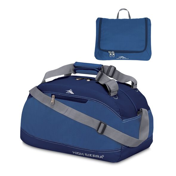 "High Sierra 24"" Pack-N-Go Duffle in the color Pacific/Blue Velvet."