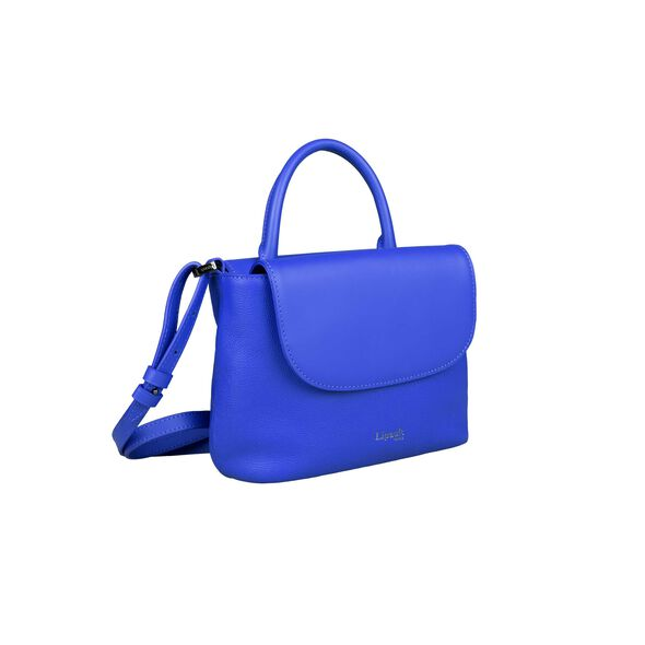 Lipault Plume Elegance Mini Handle Bag in the color Exotic Blue Leather.