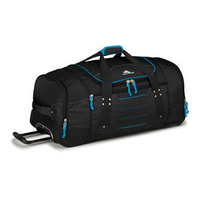 "High Sierra Ultimate Access 2.0 30"" Wheeled Duffel in the color Black/Blueprint."