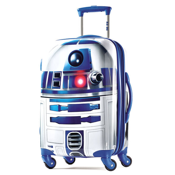 """American Tourister Star Wars 21"""" Spinner in the color R2D2."""