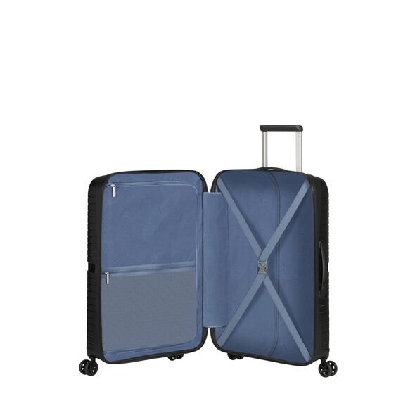 American Tourister Airconic Spinner 3 Piece Set (CCO, Med, Lrg) in the color Onyx Black.