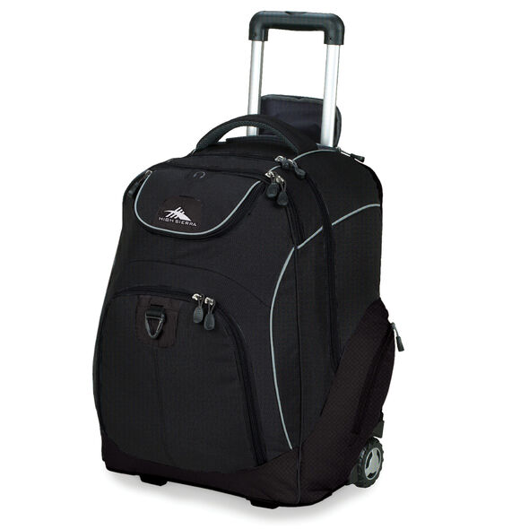 High Sierra Powerglide Wheeled Backpack in the color Black.