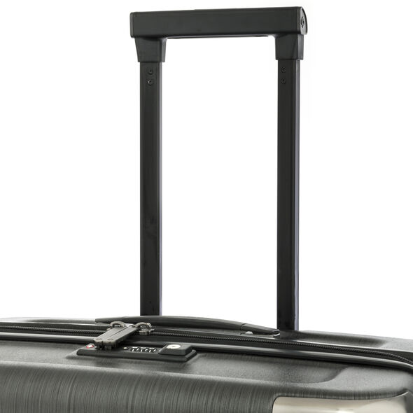 Samsonite Evoa Spinner Medium in the color Brushed Black.