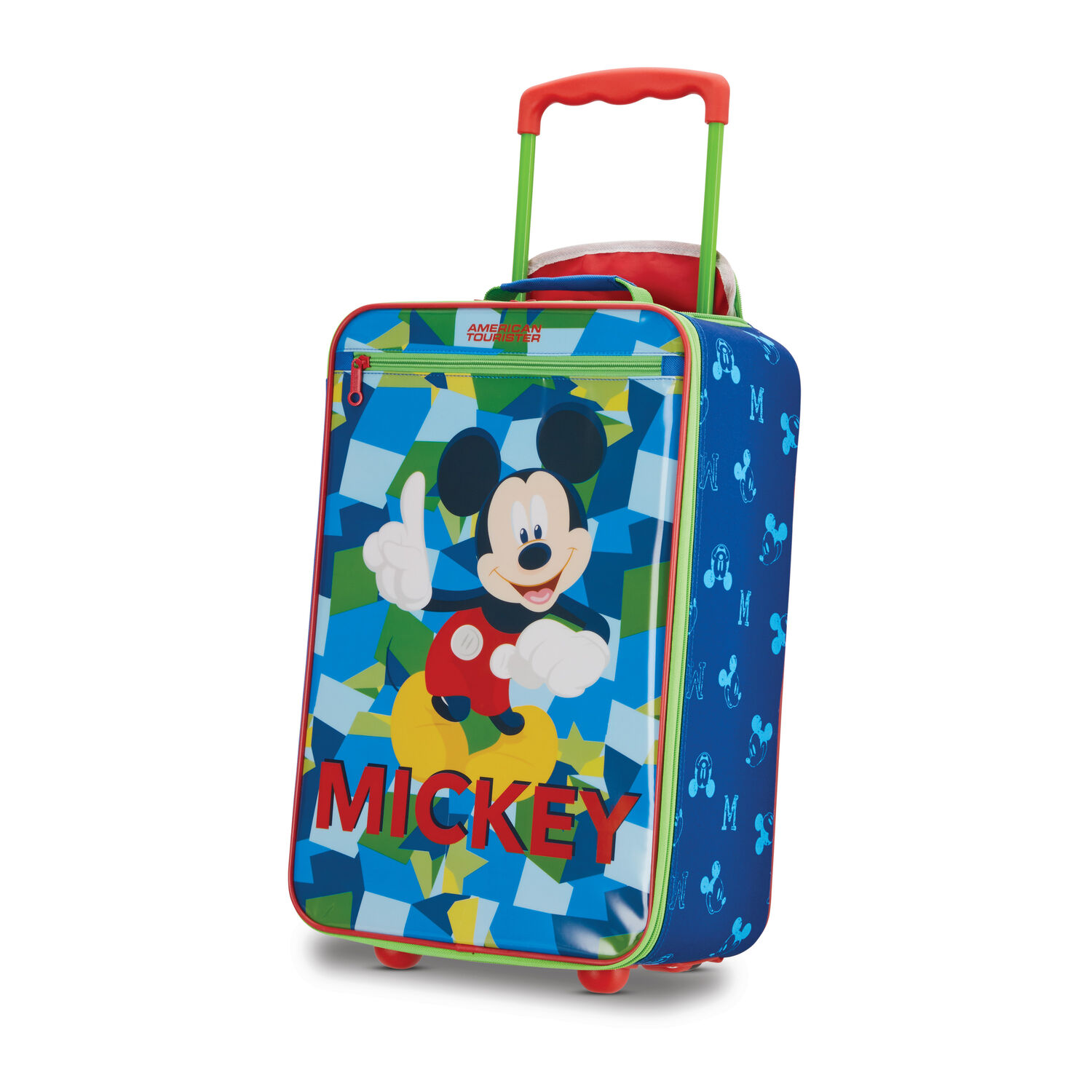 """American Tourister Disney Kids 18"""" Softside Upright in the color Mickey."""
