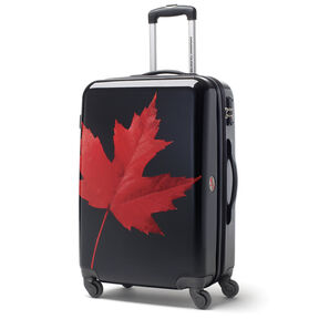 Canadian Tourister Collection Spinner Large in the color Maple Leaf Red/Black.