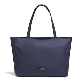 Lipault Business Avenue Laptop Tote Bag in the color Night Blue.