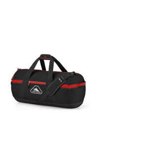 """High Sierra Packed Cargo Duffles 24"""" X-Small Duffle in the color Black/Crimson Red."""