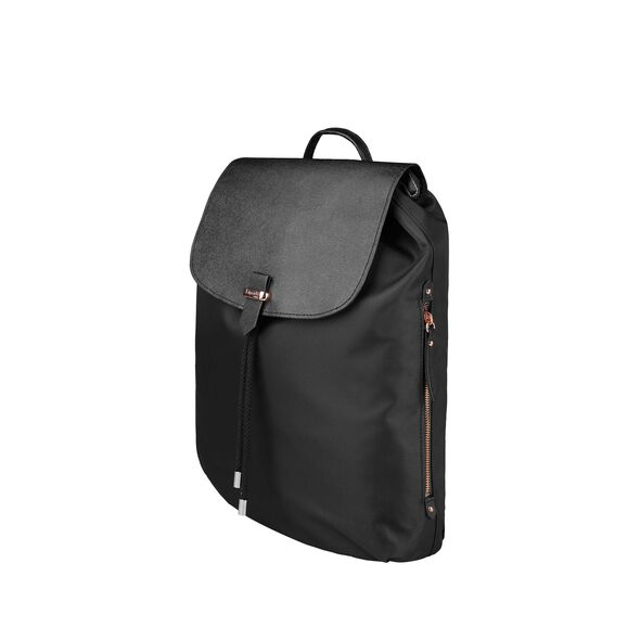 "Lipault Plume Avenue 15"" Laptop Backpack in the color Jet Black."