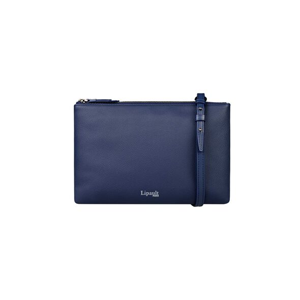 Lipault Plume Elegance Multi Pouch Bag in the color Navy Leather.