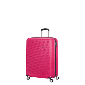 American Tourister Hypercube Spinner Carry-On in the color Pop Raspberry.