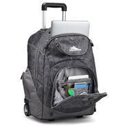 High Sierra Powerglide Wheeled Backpack in the color Fabric Tex/Slate.