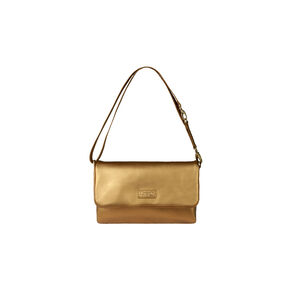 Lipault Miss Plume Clutch Bag M in the color Dark Gold.